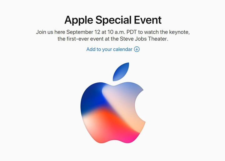 Iphone X, Iphone 8 event 12 September 2017