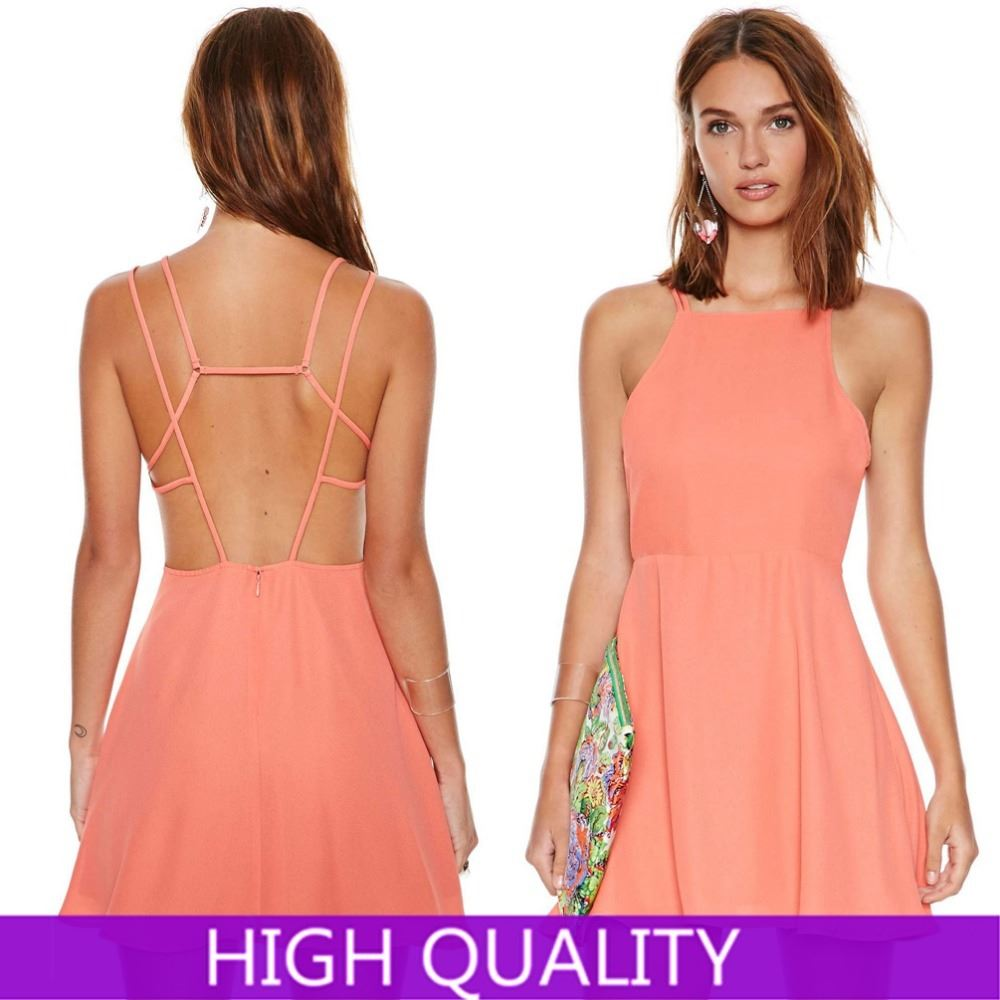 Picture of Summer Dress Back Cross Vestidos