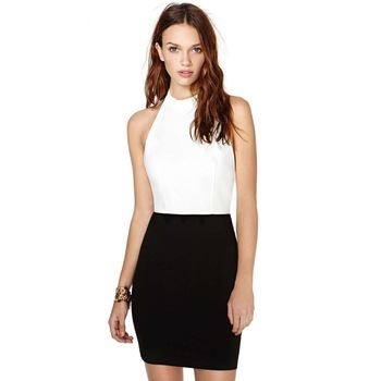 Picture of Spring Summer Dress Black&white