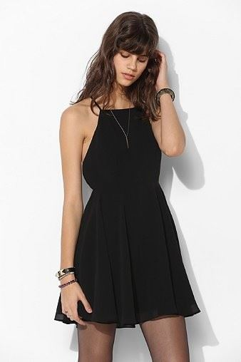 Picture of Women Summer Dress solid color backless