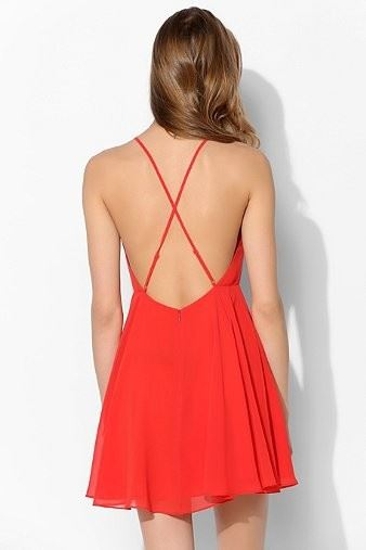 Women Summer Dress solid color backless - Eday KH - Online Shopping