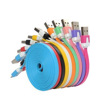 Picture of Colorful Flat Micro Usb Sync Data & Charge Cable