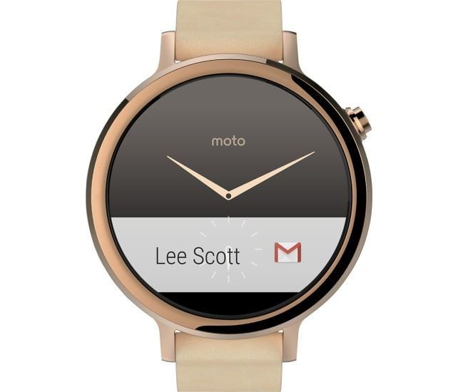 Mobility Moto 360 (2nd Gen) women Rose Gold with Blush Leather,42mm